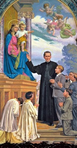 Saint John Bosco and Our Lady